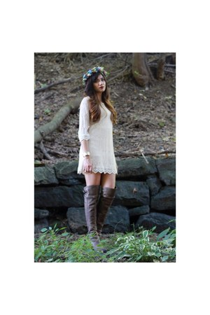 sam edelman boots - H&M dress