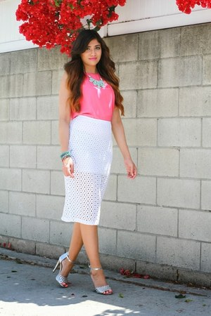 white Express skirt