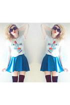 bel air babe lavagrantbelle shirt - PacSun skirt