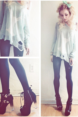Jeffrey Campbell boots - romwe sweater