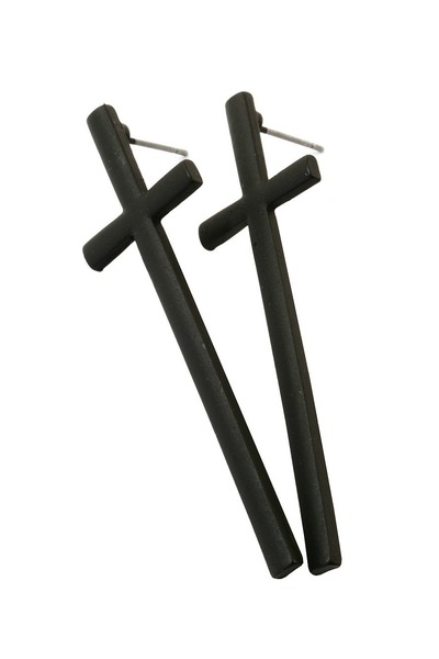 black cross lavagrantbelle earrings