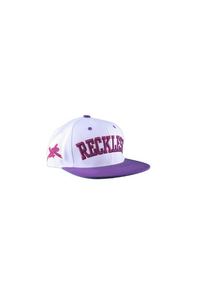 purple snapback Reckless hat