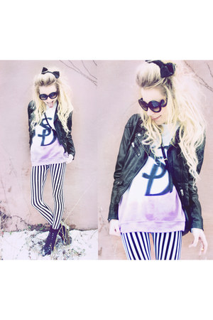 dimepiece sweatshirt - hm H&amp;M jacket - lavagrantbelle shop leggings