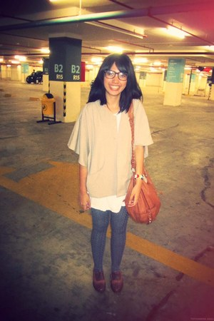 heather gray shop on alissas closet tights - brown oxfords Centro shoes