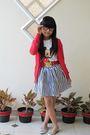 Forever-21-skirt-zara-cardigan