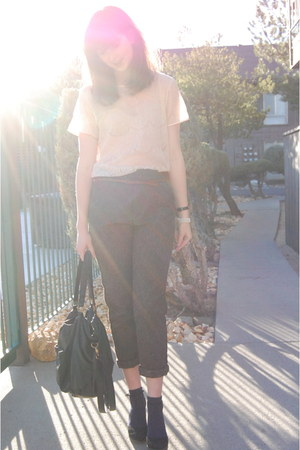 American Apparel blouse - Urban Outfitters pants - Urban Outfitters wedges