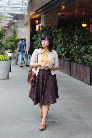 dark brown hand-me-down vintage purse - beige Atmosphere blazer