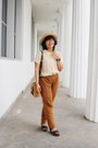 Nude-boater-urban-outfitters-hat-mustard-shoulder-ebay-purse