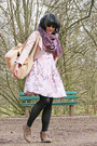 Nude-rilakkuma-bag-light-pink-minimal-dress-mustard-h-m-jacket