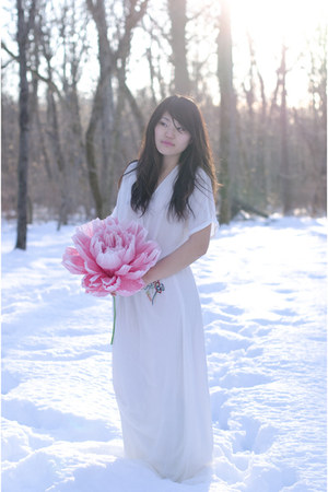 white Zara dress