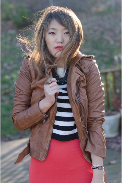 muubba jacket - asos dress - H&M sweater