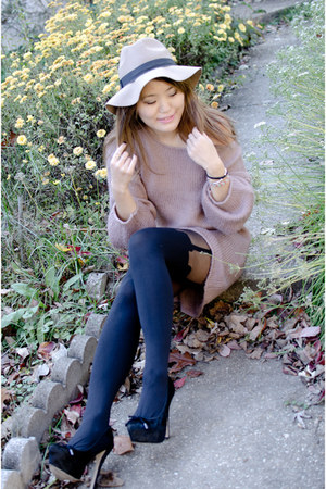 Topshop sweater - House of Holland tights