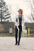 black peplum Vero Moda top - black ankle boots H&M boots