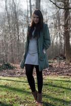 beige defshop dress - dark khaki Thelin blouse - tan Zara wedges