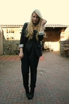 gray Zara pants - black Primark blazer