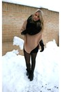 Pink-pieces-vest-black-h-m-dress-h-m-jacket-black-vintage-boots