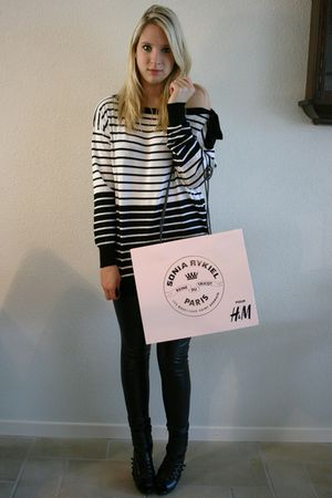 white Sonia Rykiel sweater - black