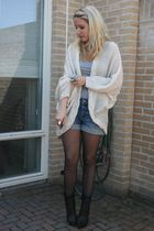 Vero Moda cardigan - H&M shorts - Look Book shoes