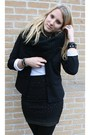 Black-blazer-black-skirt-black-scarf-white-shirt-black-boots