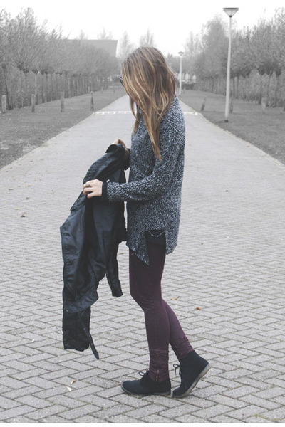 charcoal gray vintage sweater - black Shoe outlet shoes