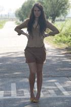 H&M shorts - H&M blouse - Zara heels