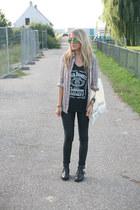 black jack daniels no brand top - black cut out boots Sacha boots