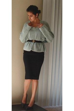 Just jeans jumper - Valley Girl belt - Forever 21 skirt