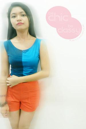 liberte shorts - liberte blouse