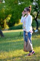 Nomination bracelet - H&M jeans - pull&bear jacket - emporio armani sunglasses