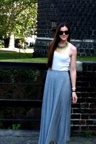necklace - maxi skirt skirt