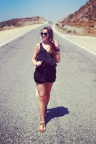 playsuit suit - black sandals