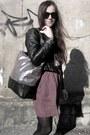 Dress-dress-metallic-bag