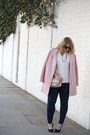 Light-pink-express-coat-navy-forever-21-jeans