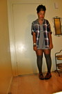 Striped-tunic-dress-flannel-shirt-thigh-high-american-apparel-socks