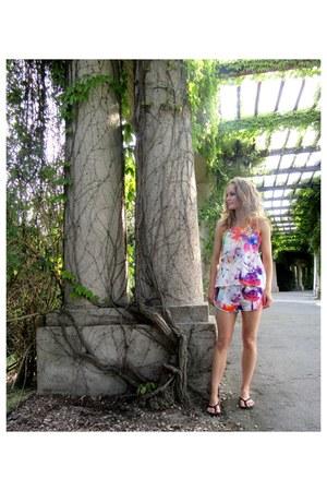 Mohito shorts - black H&M shoes - Mohito blouse