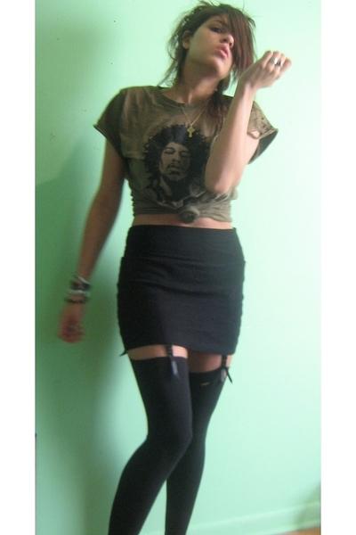 Target shirt - American Apparel skirt - ami clubwear