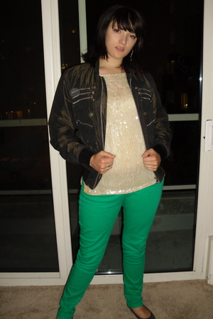 dolce and gabana jacket - sweater - Wet Seal jeans