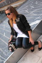 Zara jacket - Religion leggings - Zara t-shirt - Ursula Mascar shoes - accessori