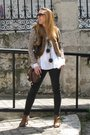 Purificacion-garcia-blouse-pepe-jeans-vest-blanco-cardigan-fornarina-pants