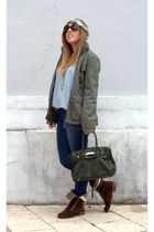 Zara jacket - H&M t-shirt - Funchal blouse - Nonapapallona accessories - Vogue s