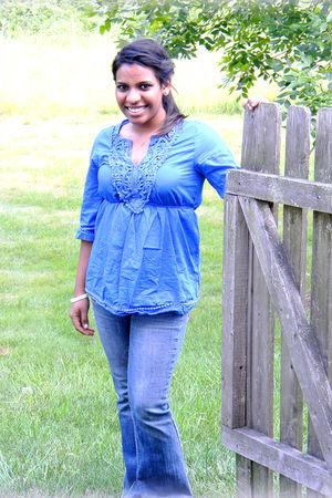 blue Target blouse