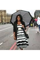 black textured new look dress