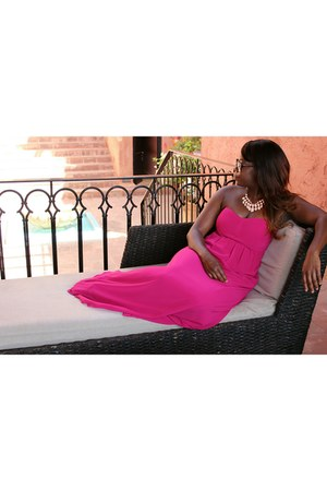 hot pink pink on pink Oasis dress