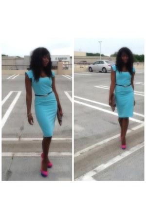 sky blue singledress dress