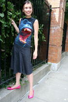 Christopher Kane shirt - vintage skirt - Margiela shoes