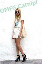Mango heels - Zara skirt