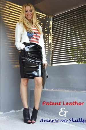 H&M skirt - Zara boots - Wildfox jumper