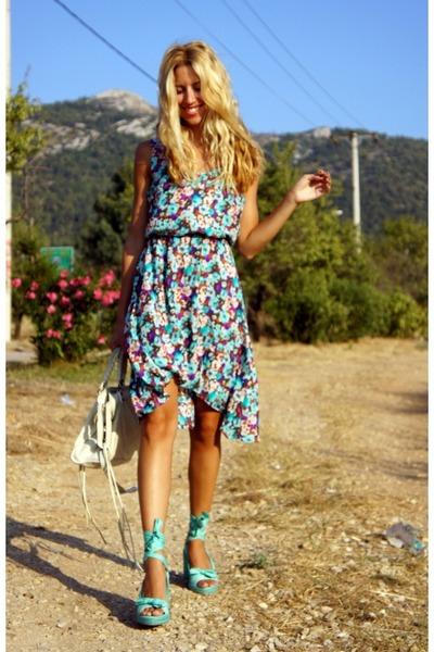 Forever 21 dress - balenciaga bag