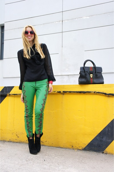 Gucci bag - Zara boots - asos pants