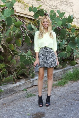 Zara skirt - Zara boots - Zara bag - H&amp;M blouse